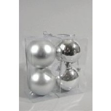 100mm Tree Baubles - pk4