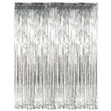 Slashed Foil Curtain - various colours