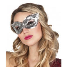 Sequin Eye Masks - Silver