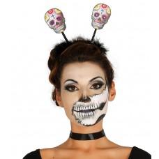 Skull Headband with Sparkling Eyes