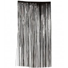 Slashed Curtain - Plastic -  Black
