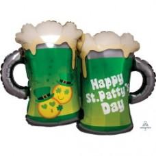 St Patrick's Beer Mug Shape Foil Balloon
