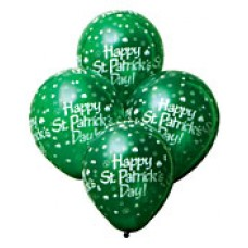 All over Print Shamrock Latex Balloons