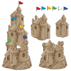 StackableSandcastle with Flags