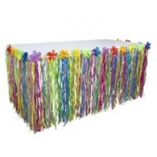 Grass Flowered Table Skirting - Multi Colour
