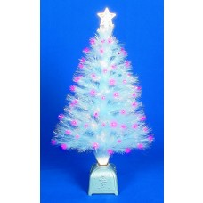 "Fibre Optic White Sparkle Tree 32""/80cm"