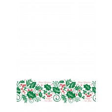 Jolly Holly Embossed Paper Banqueting Roll
