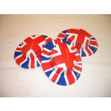 Miniature Plastic Hats - Union Jack Print