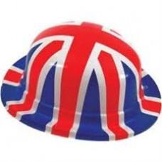 Union Jack Plastic Bowler Hat