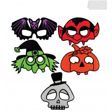 Spooky Half Face Masks - 5 assorted
