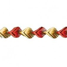 V-Cut Twist Garland - Red/Gold