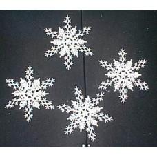 10cm Glitter Snowflakes
