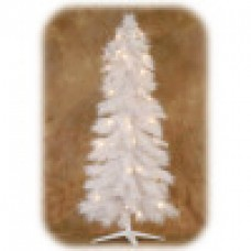 "White Pre Lit Tree with 200 LED lights 60""/150cm"