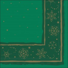 Green Xmas Star Napkin