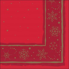 Red Xmas Star Napkin