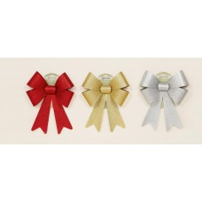 Decorative Glitter Bow - Red