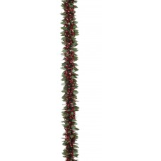 2mx10cm Natural Loop/Holly Twist Garland