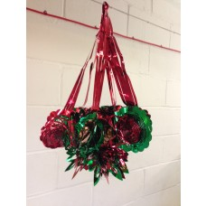 6-Section Chandelier - Red/Green