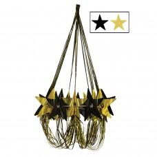 Star Chandelier - Black/Gold