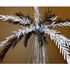 Willow Leaf Cascade - Black/White