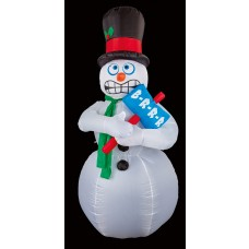 Air Blown Shivering Snowman
