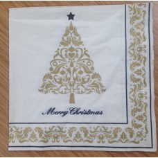 Gold/Cream Xmas/New Year Napkins