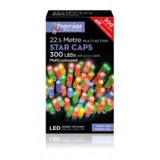 300 bulb Long Cap Star LED Multi Action Lights - Multi Colour