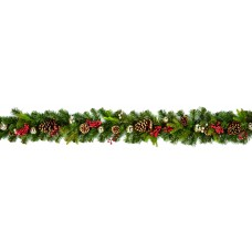 Decorated Berry Cone Garland 1.8m